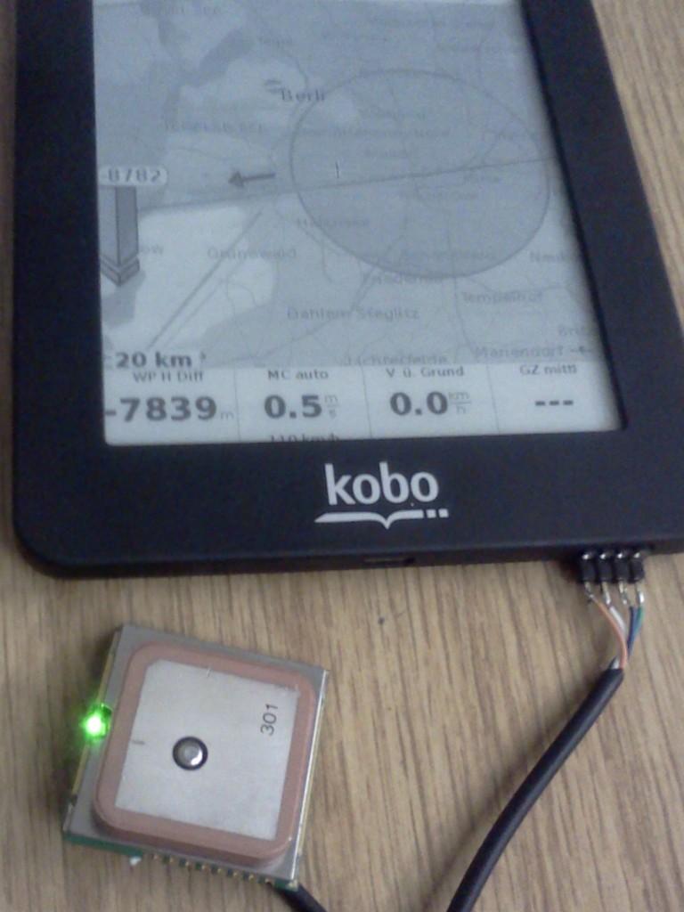 angeschlossener GPS Empfänger