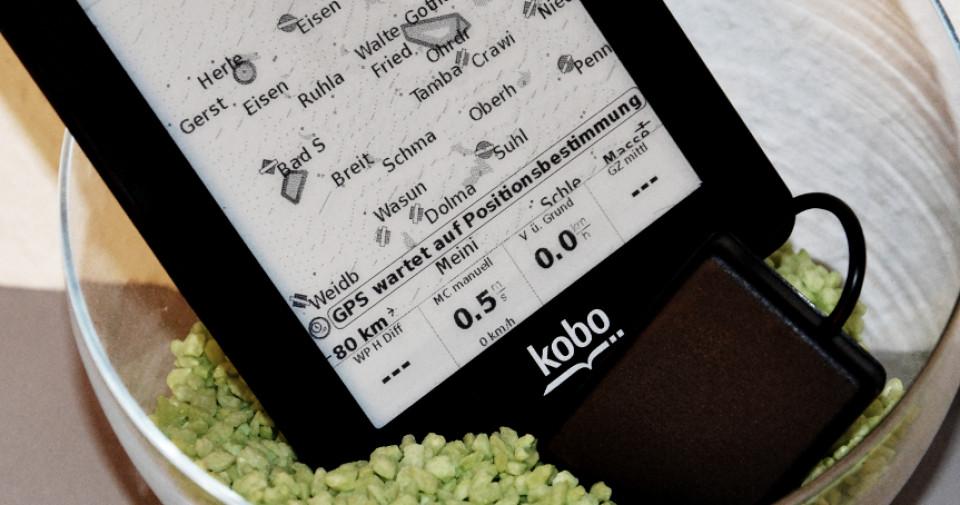 Kobo mini mit XC Soar und GPS-Empfänger